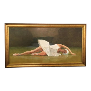 Original Oil Painting of Ballerina by Robert Beck For Sale