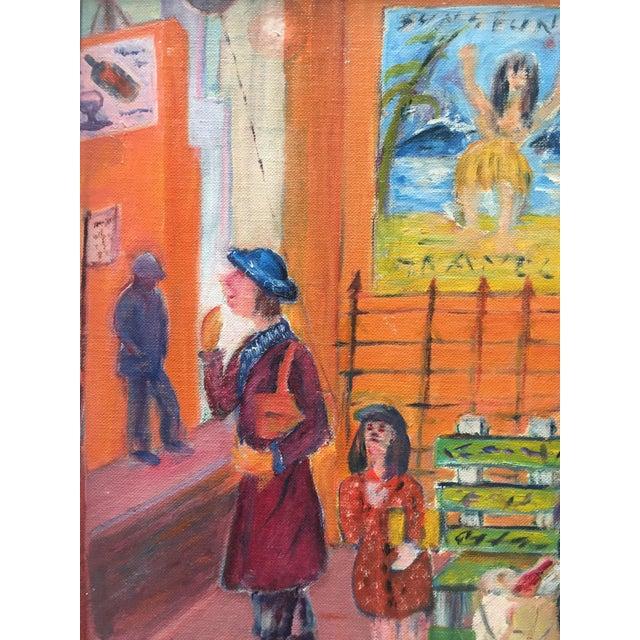 Mid Century Modernist Original Painting, Street - Image 4 of 6