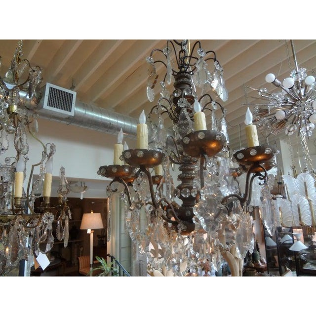 Maison Baguès Antique French Maison Baguès Attributed Beaded and Crystal Chandelier For Sale - Image 4 of 13