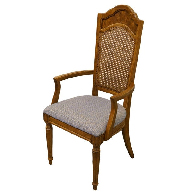 This is a vintage Thomasville dining chair from the Romano Collection. The piece was made in the late 20th century.