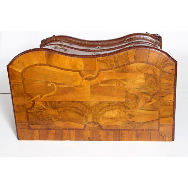 Mid-18th Century Baroque Walnut Three Drawer Chest For Sale - Image 9 of 13