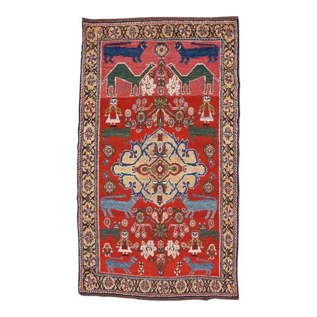 Qaashqai Wool Rug - ′4″ × 7′6″ For Sale