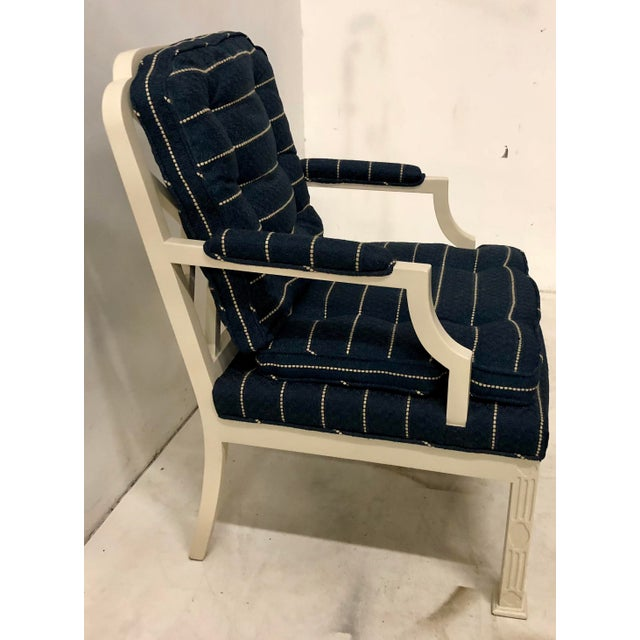 Chippendale Pair of Erwin Lambeth Chinese Chippendale Chairs For Sale - Image 3 of 10