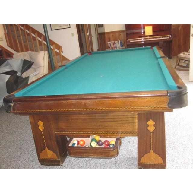 Vintage Brunswick Balke Collender Co Monarch Cushions Pool Table - Monarch pool table