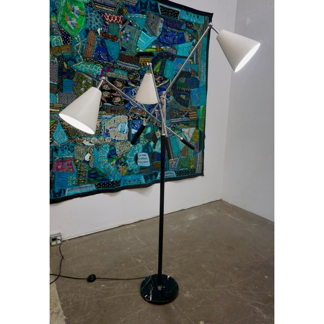 Metal 1960s Triennale Floor Lamp by Arteluce For Sale - Image 7 of 7