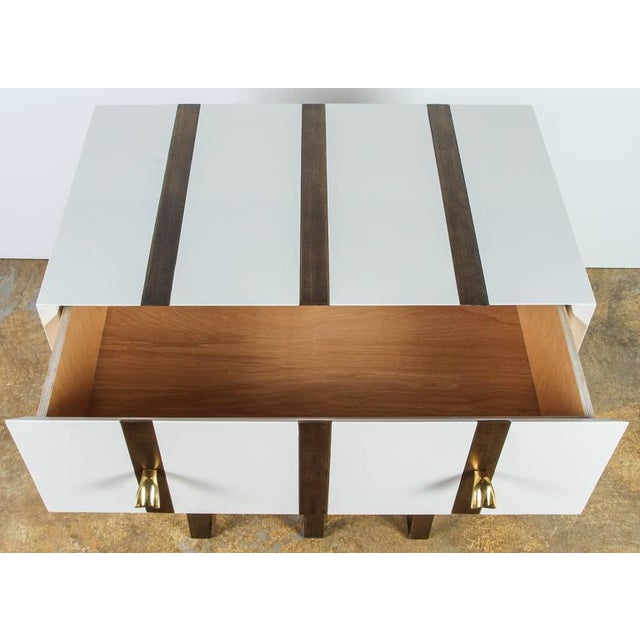 Paul Marra Two-Drawer Banded Chest in Lacquered Finish and Inset Iron Band - Image 3 of 8