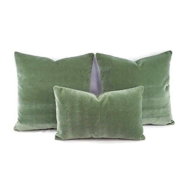 "Pollack Sedan Plush in Eucalyptus Pillow Cover - 20"" X 20"" Sage Green Heavy Velvet Cushion Case For Sale In Portland, OR - Image 6 of 8"