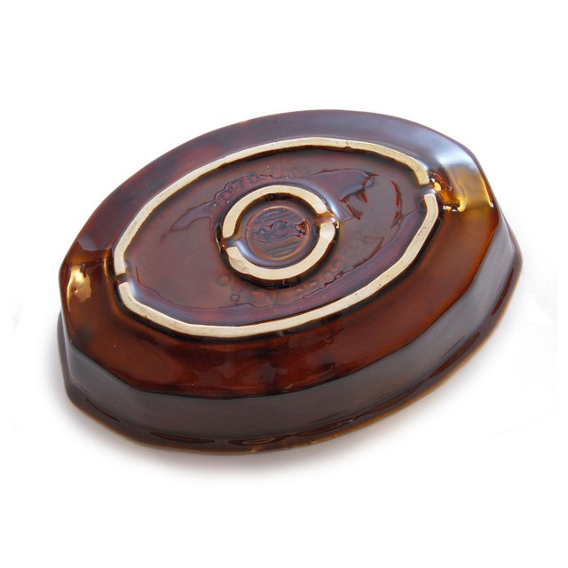 McCoy USA Brown Drip Glaze Oval Serving Dish - Image 4 of 4