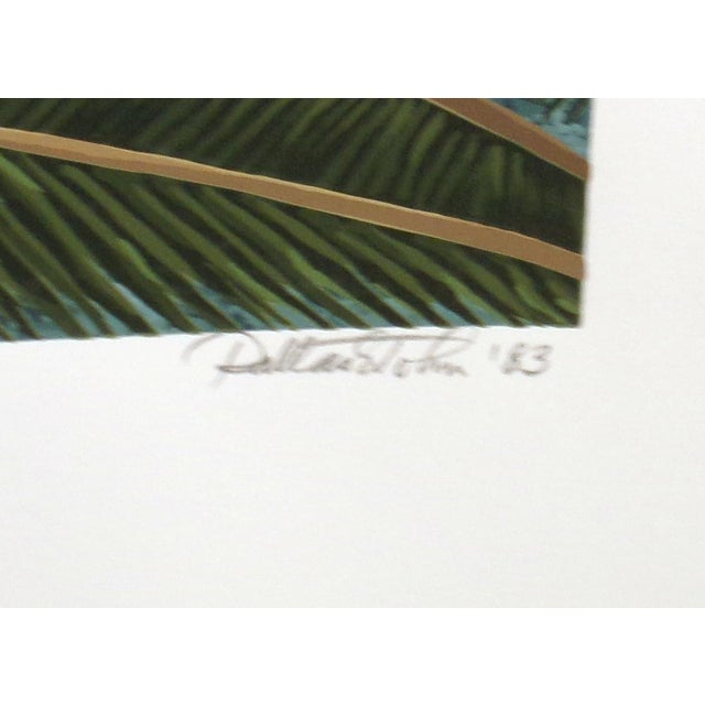 """Dallas John """"Imperial Mates"""" Birds Parrots Signed Numbered Serigraph Art Print Unframed For Sale - Image 4 of 5"""