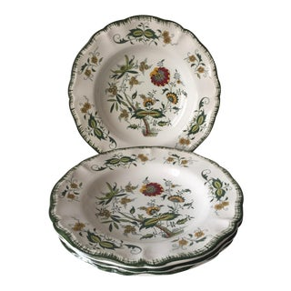 "4 Sarreguemines French Faience Bowls-""Clarence"" For Sale"
