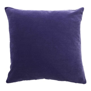 FirmaMenta Italian Solid Violet Purple Velvet Pillow For Sale