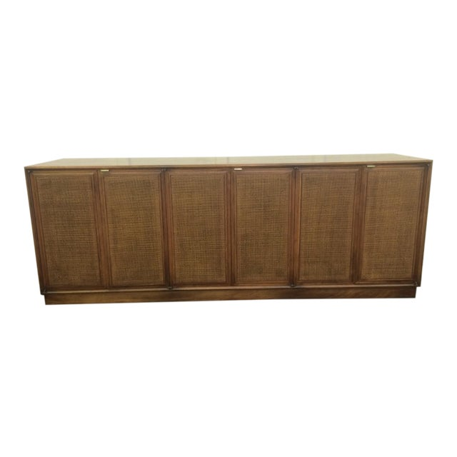 Founders Cane Paneled Credenza For Sale