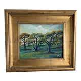 Image of Original Signed M. Barber Contemporary Landscape Painting For Sale