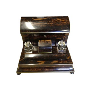 Victorian Coromandel Stationery Holder For Sale