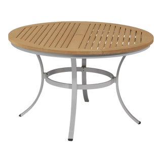 "48"" Round Outdoor Dining Table, Natural For Sale"