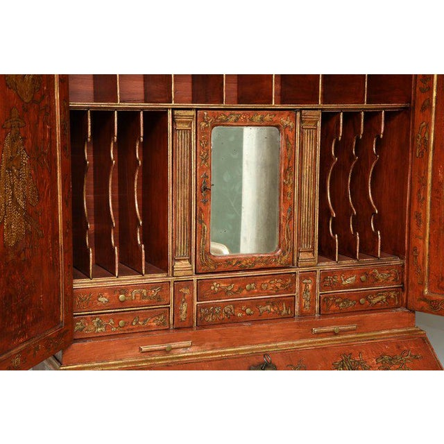 Extraordinary George III Lacquered Secretary For Sale - Image 11 of 14