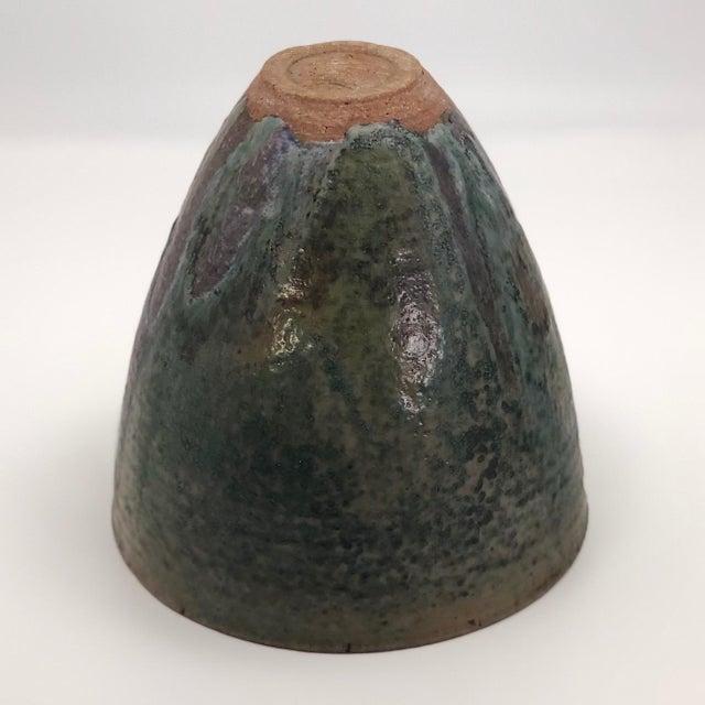 Late 20th Century Vintage Glazed Studio Pottery Vase For Sale - Image 10 of 13