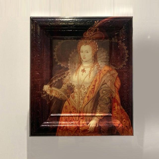 Victorian Elizabeth Runneth Over - Framed Artwork Reinterpreted by Dwm   Maloos For Sale - Image 3 of 3