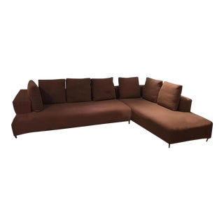 Final Markdown Ligne Roset Opium Sectional in Umber