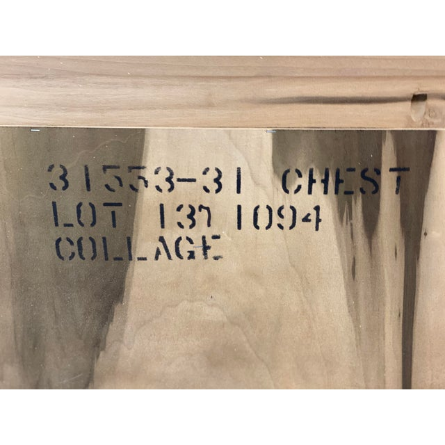 Art Deco Hickory White Pickled Oak Cabinet For Sale - Image 10 of 12