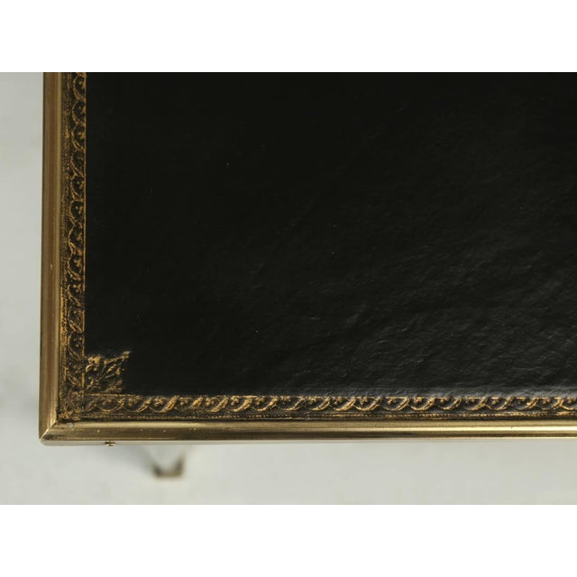 Antique French Louis XVI Style End or Side Table in an Ebonized Mahogany Finish For Sale - Image 4 of 10