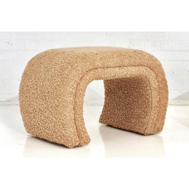 Vladimir Kagan for Directional, Waterfall Stools in Tan Boucle, 1990 For Sale In Chicago - Image 6 of 8