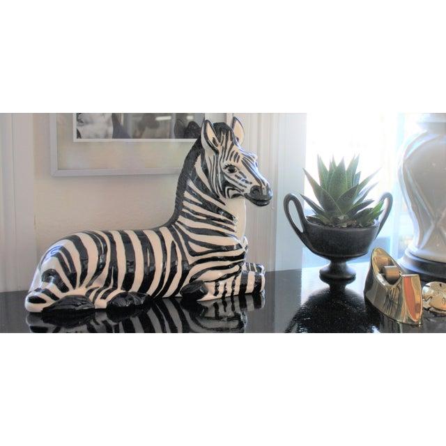 Vintage Mid-Century Modern Ceramic Zebra - Image 8 of 8