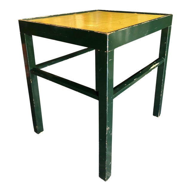 20th Century Rustic Kittinger Modern Painted Side Table For Sale