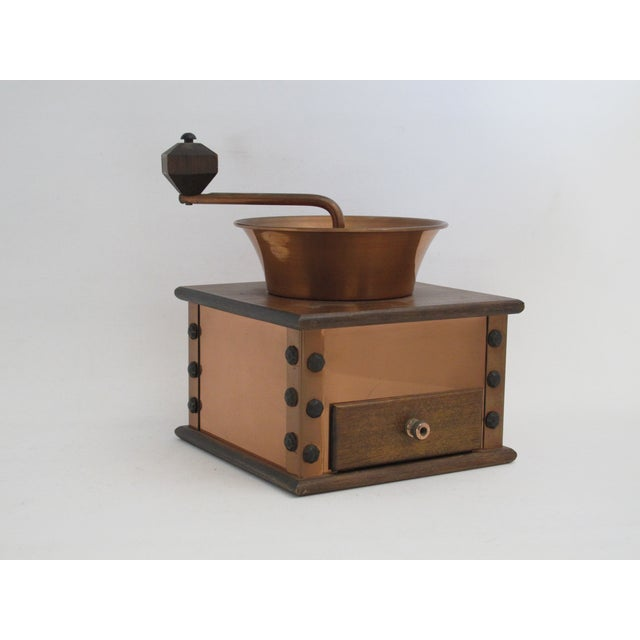 Copper and Walnut Coffee Grinder - Image 2 of 7