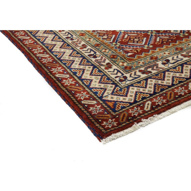 """New Traditional Hand Knotted Area Rug - 4'1"""" x 6'4"""" - Image 2 of 3"""