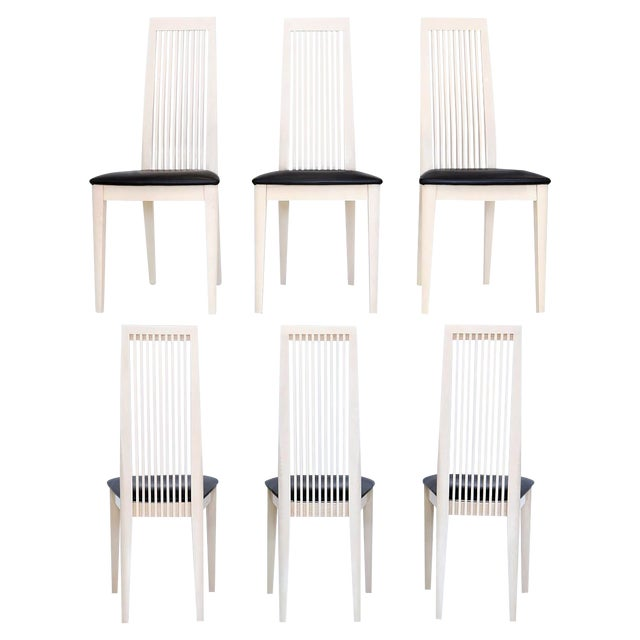 Italian Potocco Tall Dining Chairs, Set of 6 For Sale