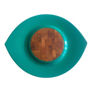 Dansk Jens Quistgaard Rare Vintage 1960's Danish Modern Festivaal Lacquer Cheese Board Serving Platter For Sale