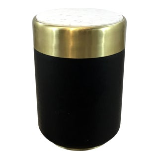 Currey & Co. Modern Black and Gold Monivis Accent Table For Sale