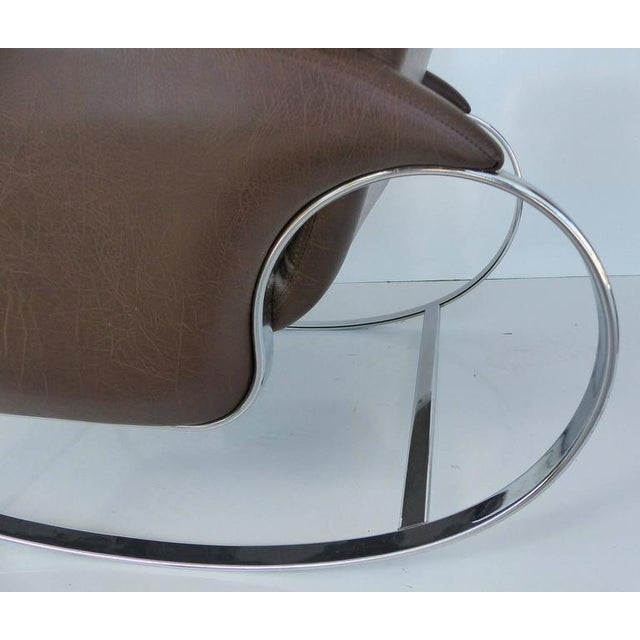 1970s 1970s Guido Faleschini Chrome Rocking Chair For Sale - Image 5 of 10
