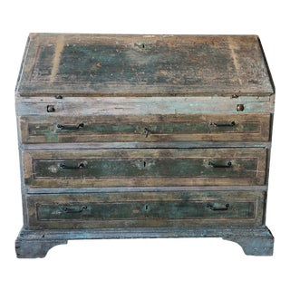 18th Century Italian Painted Desk- Original Paint and Patina For Sale