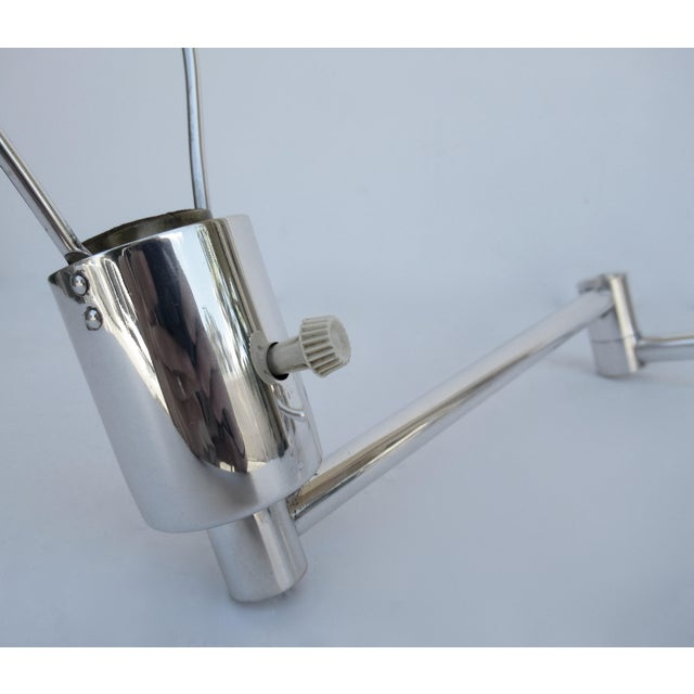 Silver Vintage C.1970's Georg Hanson for Hanson Lighting Co. Chrome-Plated Swing-Arm Wall Sconce- Single For Sale - Image 8 of 13