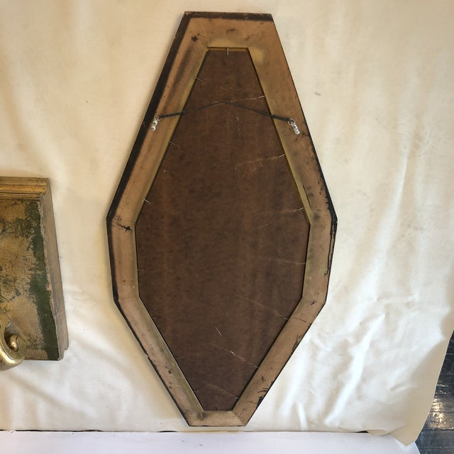 1950s Hollywood Regency Gold Console and Mirror For Sale - Image 12 of 13