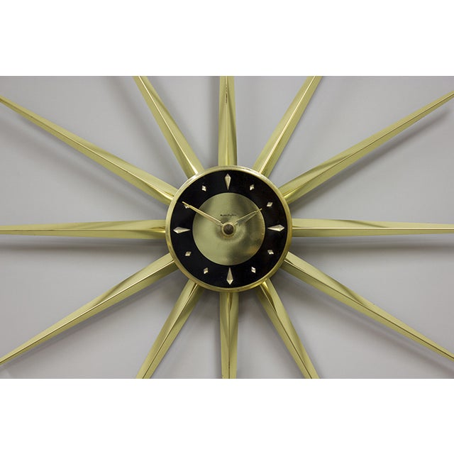 "Mid-Century Modern 1950s Vintage ""Master Star"" Clock For Sale - Image 3 of 5"