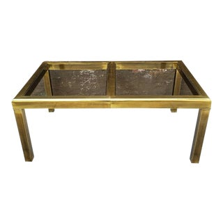 Hollywood Regency Mastercraft Brass and Glass Dining Table For Sale