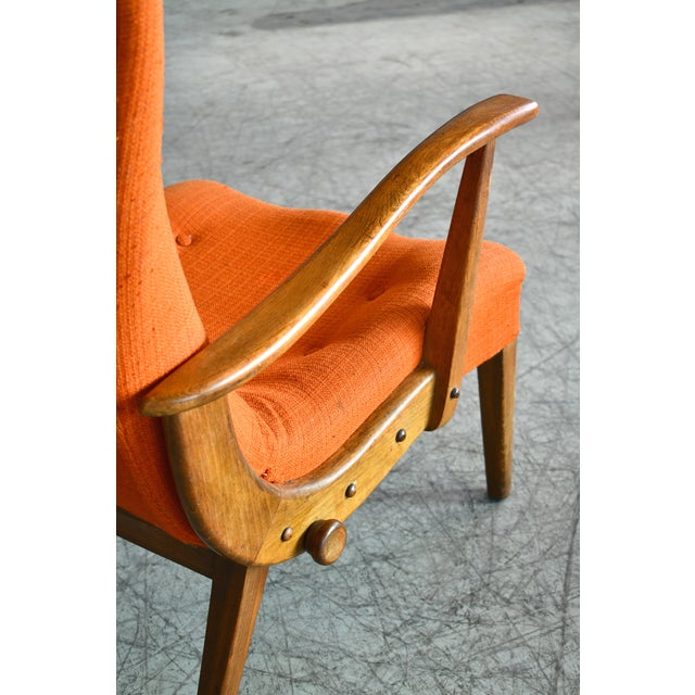 Otto Færge Attributed Reclining Lounge in Teak, Denmark, 1950s For Sale In New York - Image 6 of 10