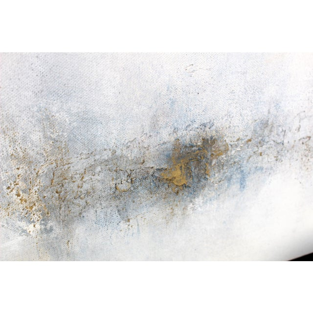 Abstract Modern Minimal Large Abstract Neutral Canvas Painting For Sale - Image 3 of 6