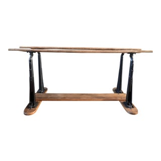 1990s Traditional Wood and Metal Parallel Bars/Ballet Bar For Sale