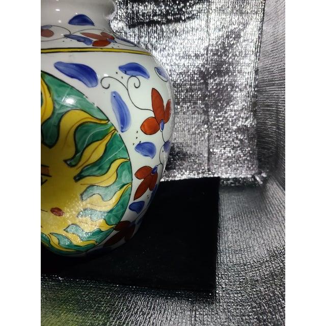 1960s Vintage Sunburst Ceramic Ginger Jar For Sale - Image 5 of 10