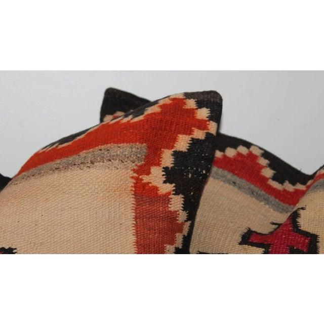 Navajo Monumental Navajo Indian Weaving Pillows /Pair For Sale - Image 3 of 5
