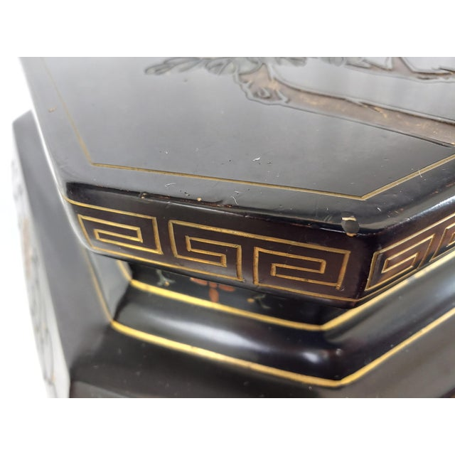 1950s 1950s Chinoiserie Jappaned Lacquered Side Tables - a Pair For Sale - Image 5 of 10