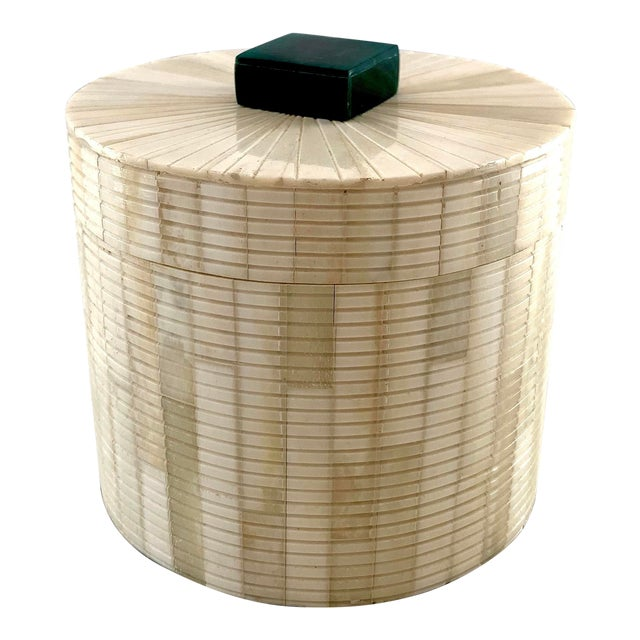 Carved Bone Storage Box For Sale