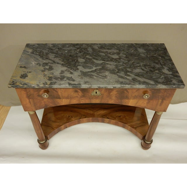 Empire Italian Empire Walnut Console For Sale - Image 3 of 9