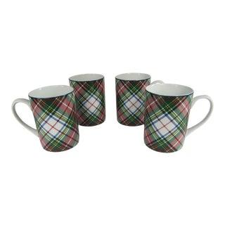 Rl Templeton Tartan Mugs - Set of 4 For Sale