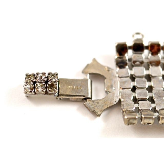 Stunning Weiss Crystal Encrusted Bracelet For Sale - Image 9 of 12