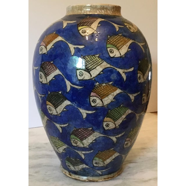 Vintage Persian Fish Vase For Sale In Miami - Image 6 of 11